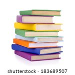 Pile Of Books Isolated On Whit...