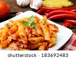 Penne Pasta With Chili Sauce...