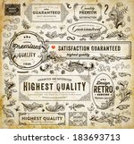 vector set of calligraphic... | Shutterstock .eps vector #183693713