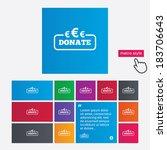 donate sign icon. euro eur... | Shutterstock .eps vector #183706643