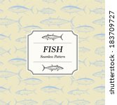 Seamless Pattern - Fish - stock vector