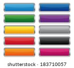 metallic rectangular buttons.... | Shutterstock . vector #183710057