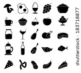 food icon set | Shutterstock .eps vector #183718877