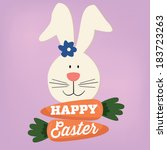 happy easter bunny rabbit...   Shutterstock .eps vector #183723263