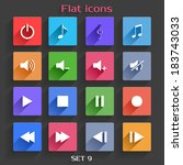 vector application web icons... | Shutterstock .eps vector #183743033
