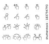 gesture icons for touch devices | Shutterstock .eps vector #183754793
