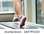 exercising on a treadmill  ... | Shutterstock . vector #183795233