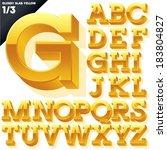vector alphabet of simple 3d...   Shutterstock .eps vector #183804827