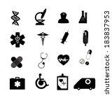 sign icon set  medical