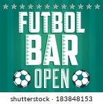 football   sports bar menu card ... | Shutterstock .eps vector #183848153