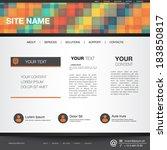 website template vector eps10 | Shutterstock .eps vector #183850817