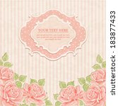 vintage background with roses.  | Shutterstock .eps vector #183877433