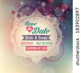wedding invitation card with... | Shutterstock .eps vector #183902897