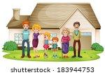 illustration of a family... | Shutterstock .eps vector #183944753