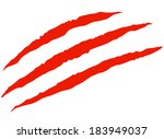 red bloody claw scratches... | Shutterstock .eps vector #183949037