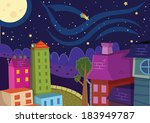 night and city | Shutterstock .eps vector #183949787