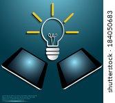 illustration of modern tablet... | Shutterstock .eps vector #184050683