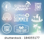 summer holiday calligraphic... | Shutterstock .eps vector #184055177