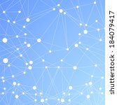 polygonal  blue background.... | Shutterstock .eps vector #184079417