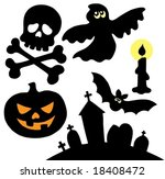 halloween silhouettes... | Shutterstock .eps vector #18408472