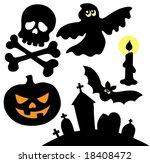 halloween silhouettes... | Shutterstock .eps vector #18408472