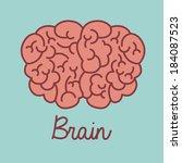 brain design over blue... | Shutterstock .eps vector #184087523