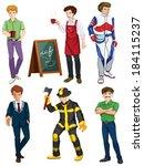 illustration of the six men... | Shutterstock .eps vector #184115237