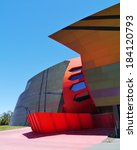 Small photo of The colorful National Museum of Australia on the Acton peninsula in the capital Canberra Photo taken on: 12 december 2013