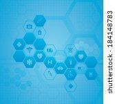 medical background | Shutterstock .eps vector #184148783