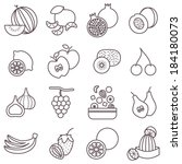 thin line food icons set  fruit ... | Shutterstock .eps vector #184180073