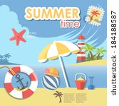 summer time infographic | Shutterstock .eps vector #184188587