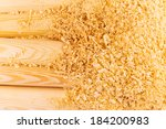 Macro View Of Wooden Sawdust...