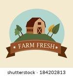 farm design over  background ... | Shutterstock .eps vector #184202813