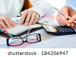business accounting  | Shutterstock . vector #184206947
