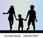 siblings   silhouettes