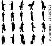 vector silhouette of business... | Shutterstock .eps vector #184207823