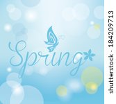 abstract spring background with ... | Shutterstock .eps vector #184209713