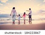 happy young family having fun... | Shutterstock . vector #184223867