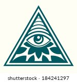 all seeing eye | Shutterstock .eps vector #184241297
