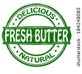 stamp with text fresh butter... | Shutterstock .eps vector #184248083