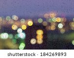 drops of rain on window with... | Shutterstock . vector #184269893