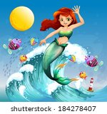 aqua,aquatic,ball,beautiful,cartoon,colorful,colourful,creature,drawing,enchanted,enchanting,female,fish,fishes,fullmoon