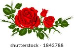 vector of red rose with green... | Shutterstock .eps vector #1842788