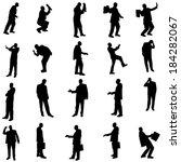 vector silhouette of... | Shutterstock .eps vector #184282067
