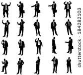 vector silhouette of... | Shutterstock .eps vector #184282103