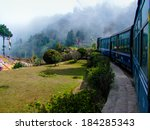 train passing a beautiful...