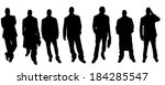 vector silhouette of a... | Shutterstock .eps vector #184285547