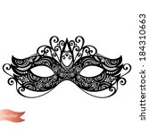 beautiful masquerade mask ...   Shutterstock .eps vector #184310663