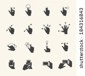 gesture icons for touch devices | Shutterstock .eps vector #184316843