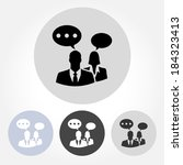 businesspeople chatting icons... | Shutterstock .eps vector #184323413